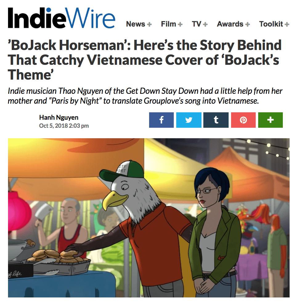 Thao Covered 'BoJack Horseman' End Credits
